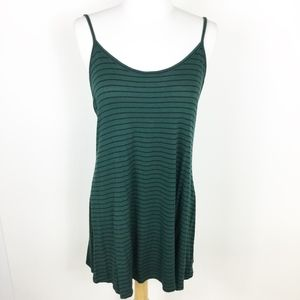 Forever 21 Green Striped Tank Dress sz. Medium